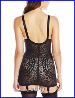 Rago Women's Extra Firm Open Bottom Body Shaper Black 36DD