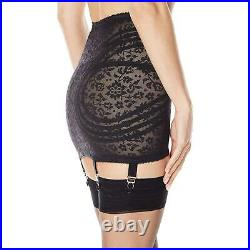 Rago Women's Extra Firm Shaping Open Bottom Fashion Girdle, Black, Size Small Z