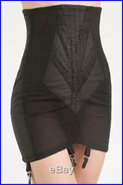 Rago Women's High Waist Open Bottom Girdle with Zipper, Black, Size XX-Large xg