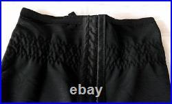 Retro Power Mesh Open Bottom Girdle / Waist Cincher with 6 Suspender Straps