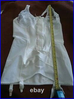 Roaman's Vintage Satin Panel All in One Open Bottom Girdle Size 40B Style 77251