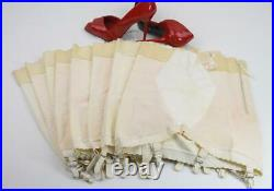 SASSY LOT OF 8 VINTAGE PLAYTEX ZIPPER OB GIRDLES With6 GARTERS NOS MOST WithTAGS