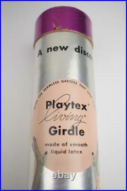 SASSY VINTAGE PLAYTEX 100% LATEX OB GIRDLE NOS WithORIGINAL TUBE SIZE MEDIUM