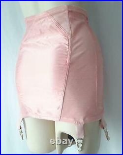 SLIMMING Vintage 1950s PINK SATIN OPEN BOTTOM SHAPER Mini GIRDLE withGRTS XL