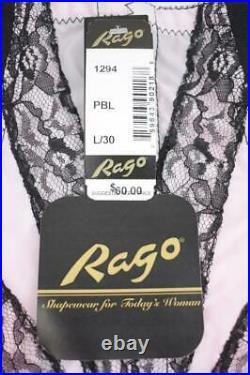 Sassy Vintage Inspired Rago Hi-waist Zippered Ob Girdle 6 Garters Nwt L/30