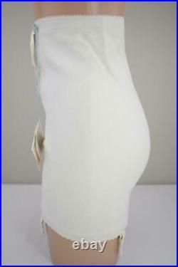 Sassy Vintage Playtex 5 Lbs Thinner Zippered Ob Girdle 4/garters Nos Tags Medium