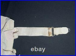 Sears Nuback White Satin Taffeta Boned Open Bottom Girdle Corset Garters Sz 34
