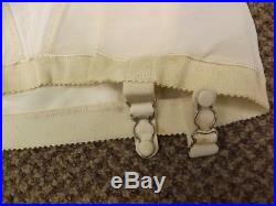 Sexy Girly Pin Up Vtg 50s 60s NEW NOS Open Bottom Garters Girdle L 29/30 Shaper