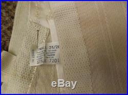 Sexy Vtg 1960s NEW Rayon Rubber Satin Panel Open Bottom Garter Girdle S 25/26