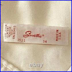 Smoothie Satin Panel Open Bottom Girdle Style 3521, Size 34 with 6 Garters