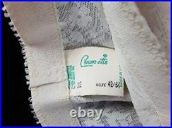 Sz 6x-42 Open Bottom Girdle & sz 12.5 vtg. Nylon stockings hosiery leg lingerie