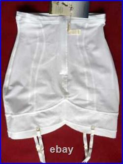 TRIUMPH'Contouring Essence Girdle S White Firm Open Bottom Garters Zip NWT
