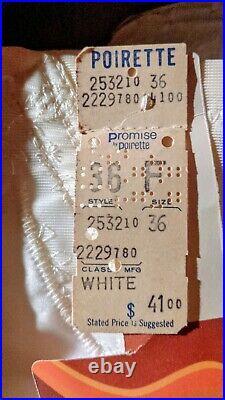 Unused PROMISE POIRETTE High-Waist Open Bottom Girdle Shaper with Garters 36F Tags
