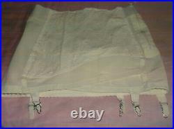 VINTAGE Sears Open Bottom Side Hook Girdle 6 Garters size 38 w Free Bonus