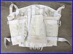 VINTAGE WOMANS GIRDLE CORSET OPEN BOTTOM WHITE SIZE 38 ATCO No Tag