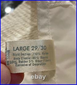 VTG 60s Girdle Pretty Puckers 29/30 NOS Open Bottom Metal Garters Nylon Rubber