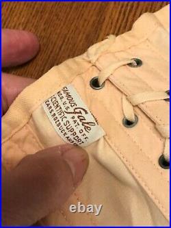 VTG Apricot Famous Gale Corset Lace Up/ Hook Up Front & Sides/Straps Open Bottom