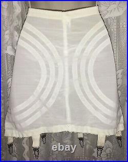 VTG Lane Bryant 42 XXL Shaper Girdle Bustier Corset open bottom 6 Metal Garters