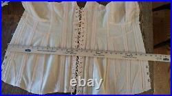 Vanity fair open bottom full body girdle fan lace back corset boned