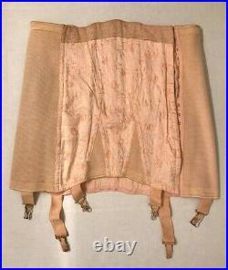 Vintage 1950s Gossard corset with garters, open bottom
