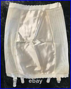 Vintage 50s Girdle Garters NOS Open Bottom PIN-UP Rockabilly Ivory Size S ILGWU