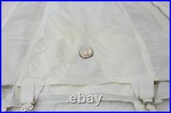 Vintage Adonna Open Bottom Girdle 4 garter side zipper size 30 Large