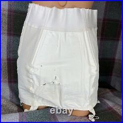 Vintage BERLEI GAY SLANT Open Bottom Corset Girdle STYLE 4420 FIRM Waist 33