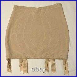 Vintage Beige Vanity Fair Open Bottom Girdle withSix Garter Attachments. Size XL