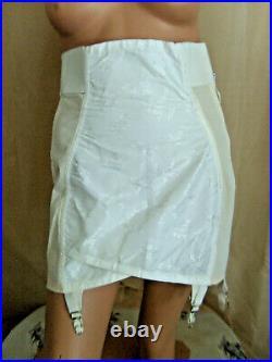 Vintage Bestform Flirtation Walk OPEN Bottom Girdle 6 garters size 31