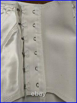 Vintage Betsy Ross Satin Acetate Open Bottom Girdle White 731 sz 28