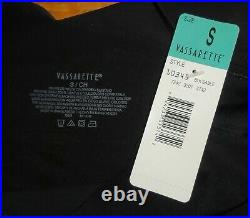 Vintage Black Vassarette Body Girdle S shapewear open bottom retro pinup shaper