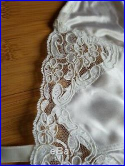 Vintage Christian Dior White Open Bottom Girdle withHosiery Garters, Rubber, New