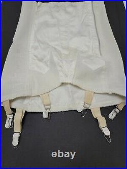 Vintage Corset Satin Panel / 6 Garter FORMFIT Skippies Open Bottom Girdle Size