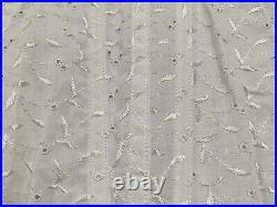 Vintage Crown Cool-ette Open Bottom Girdle White Cotton Embroidered 4730 sz 27