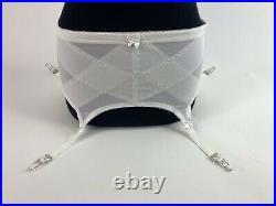 Vintage Crown-ette Double Diamond Open Bottom Girdle 4 Garters Style 6221 3X