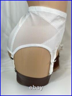 Vintage Crown-ette Double Diamond Open Bottom Girdle Garter 4 Strap 2X 33-34