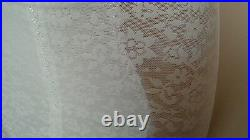 Vintage Crown-ette white Open Bottom Girdle 4 suspender garters floral size 38