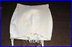 Vintage Exquisite Form Open Bottom Girdle, White, Large