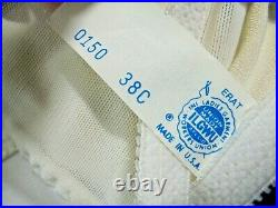 Vintage FIRM Control open bottom all-in-one girdle 4 garters 38C UNION USA 0150
