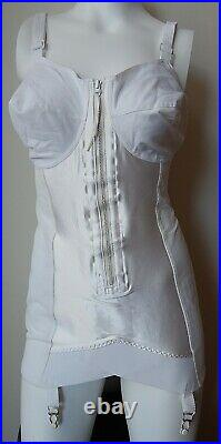 Vintage FIRM Control open bottom all-in-one girdle with4 garters sz 40B NEW