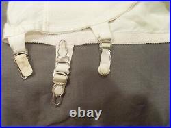 Vintage Fashion Open Bottom Girdle Garter Belt, Side Zip & Hook