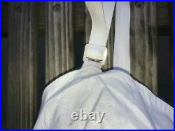 Vintage Full Body Girdle 4 Garters Open Bottom All In One Size 40