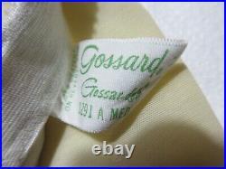 Vintage GOSSARD Open Bottom Girdle Corset WHITE Lingerie