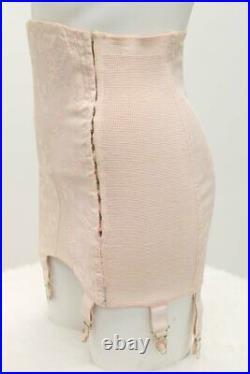 Vintage Gossard Sz 28 open Bottom Girdle 6 Garter side closure Pink #848-14