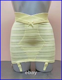 Vintage High Waist Open Bottom Girdle Girdle 4 Suspender Straps (UK 10 / EU 38)