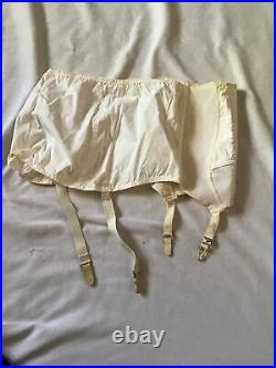 Vintage LANE BRYANT GIRDLE Shapewear Open Bottom with Four Garters Size 40