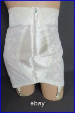 Vintage Lane Bryant Open Bottom Girdle 4 Garters Size 38-40 NOS