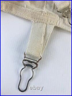 Vintage Lerner Shops Girdle Metal Zipper Shaper Open Bottom Garters Size 27 TLC