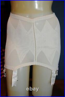 Vintage Lilly of France, Queen of Diamonds Open Bottom Girdle, White, Large