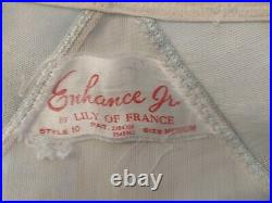 Vintage Lily Of France Enhance Open Bottom Girdle withgarters Size Medium